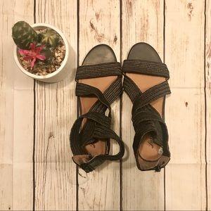 Lucky Brand Strap Elastic Gladiator Sandals